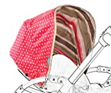 Poplico Reversible Canopies for Bugaboo Bee+ (Cherry/ Red)
