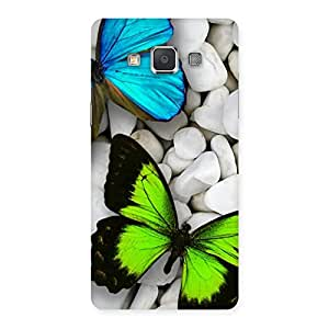 Premium Butterflies Green Blue Back Case Cover for Galaxy Grand 3