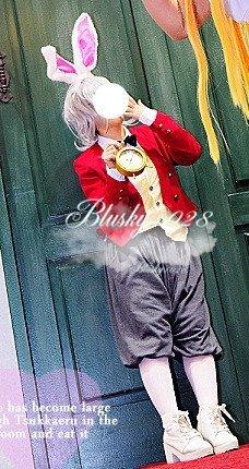 【不思議の国のアリス】白ウサギ(擬人化) コスプレ衣装+ ウィッグ オーダー自由 ディズニークリスマス、ハロウィン イベント仮装  コスチューム