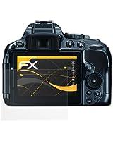 3 x atFoliX Film Protection d'Écran Nikon D5300 - FX-Antireflex anti-reflet