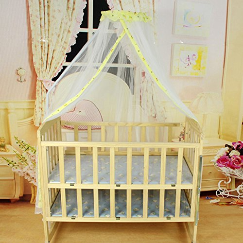 2013Newestseller 64'' Babies Infant Bed Canopy Mosquito Net Crib Mosquito (Yellow) front-1006169
