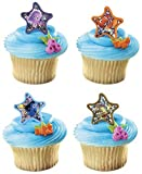 *FREE STANDARD SHIPPING - 24 Rings - Finding Nemo - Official Crispie Sweets Cupcake Topper KIT - w/ Dusting Sugar Sampler & Bonus Card - We Ship Within 1 Business Day w/ *FREE Standard Shipping!