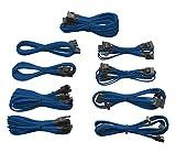 Corsair Professional Series Gold AX850/AX750/AX650 Individually Sleeved Cables Blue