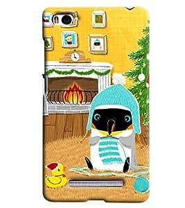 Blue Throat Penguine In Cold Printed Designer Back Cover For Xiaomi Mi4i