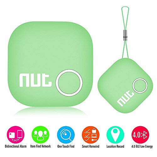 MYRIANN Smart Tag Nut 2 Bluetooth Anti-lost Tracker Tracking Wallet Key Tracer Finder Alarm Patch GPS Tracker Key Finder Locator for iOS/iPhone/iPod/iPad/Android (Green) (Iphone Key Locator compare prices)