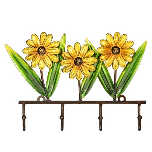 Deco Flair Daisies Metal Key Ring Holder
