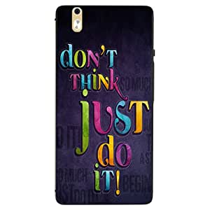 Make My Print Slogan Printed Multicolor Hard Back Cover For InFocus M810