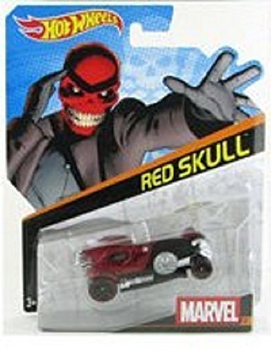 Hot Wheels, Marvel Character Car, Red Skull #21, 1:64 Scale