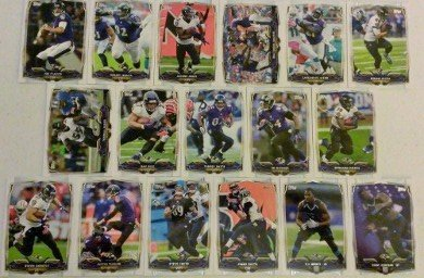 2014 Topps Football Baltimore Ravens Team Set In a Protective Case - 17 cards including Joe Flacco, Owen Daniels, Ray Rice, Terrell Suggs, Jacoby Jones, Torrey Smith, Haloti Ngata, Jimmy Smith, C.J. Mosley RC, Dennis Pitta, Timmy Jernigan RC, Steve Smith,