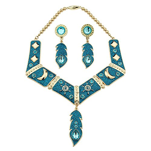 Disney Store Pocahontas Jewelry Set 3 Pcs Necklace Earrings Costume