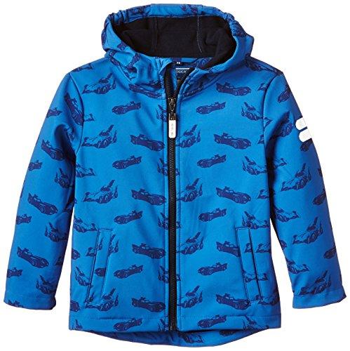 Tom Tailor Kids Jungen Jacke allover print softshell jacket/507, Gr. 110 (Herstellergröße: 104/110), Blau (clearly blue 6674)