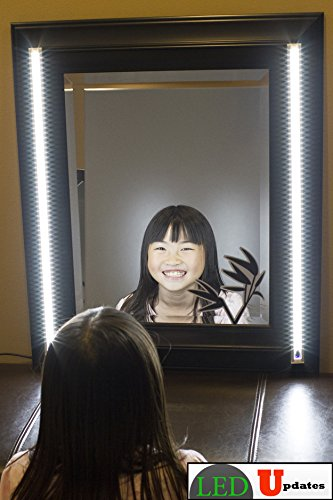 MAKE UP MIRROR LED light white color Dual 2ft VANITY MIRROR LIGHT SET WITH UL Power adapter (Make Up Lighting compare prices)