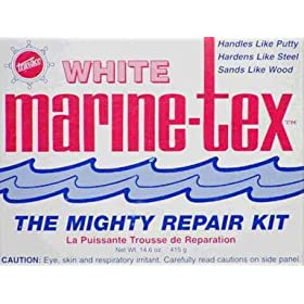 Marine Tex Mighty Repair Kit (White/White, 14-Ounce)