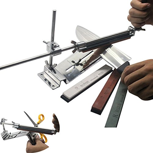 Profession Kitchen Sharpening Tool Scissor Knife Blade Sharpener Tools With 4 Stones (Knife Sharpener Fixture compare prices)