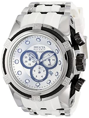 Invicta Men's 14404 Bolt Chronograph Silver Dial White Polyurethane Watch