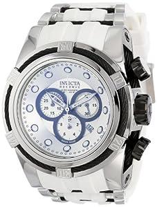 Invicta Men's 14404 Bolt Chronograph Silver Dial White Polyurethane Watch