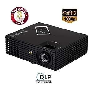 Viewsonic PJD7820HD Vidéoprojecteur DLP Full HD 3000 lumens Noir avec Pack Wolverine