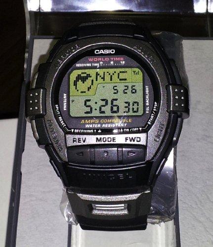 Casio Rare Vintage Cell Phone Vibration World time Alarm VIVCEL Watch VCL120-1 0