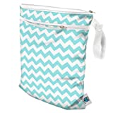 Planet Wise Wet/Dry Bag, Teal Chevron