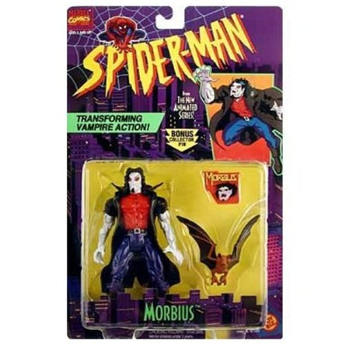 "SPIDER-MAN ANIMATED SERIES ""MORBIUS"" WITH TRANSFORMING VAMPIRE ACTION"