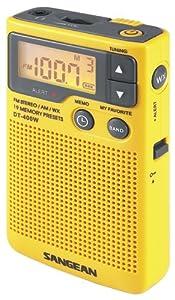 Sangean DT-400W AM/FM Digital Weather Alert Pocket Radio by Sangean