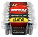 Rayovac ALAA-48 UltraPRO Alkaline AA Batteries, 48-Pack