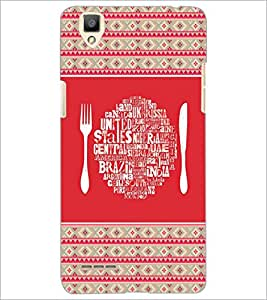 PrintDhaba Typography D-4149 Back Case Cover for OPPO F1 (Multi-Coloured)