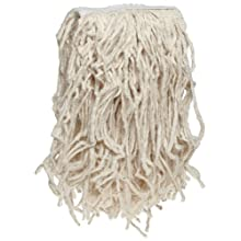 Boardwalk CM02016S Mop Head, Cotton, Cut-End, White, 4-Ply, #16 Band (Case of 12)