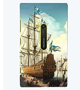 Printvisa Docked Sailors Ship Back Case Cover for Nokia Lumia 920::Microsoft Lumia 920