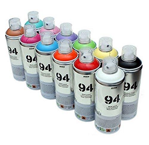 mtn-94-vernice-spray-spray-da-400-ml-12-x-barattoli-di-vernice-opaca-vernice-sintetico