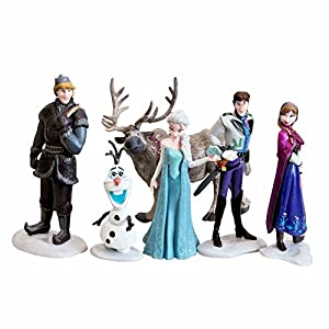 (Dd#358) 6pcs/lot 7-10cm Anna Elsa Hans Kristoff Sven Olaf PVC Action Figure Toy Play Set Classic Toys Free Shipping Retail