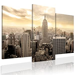 xxl format top bild leinwand 3 teilig new york. Black Bedroom Furniture Sets. Home Design Ideas
