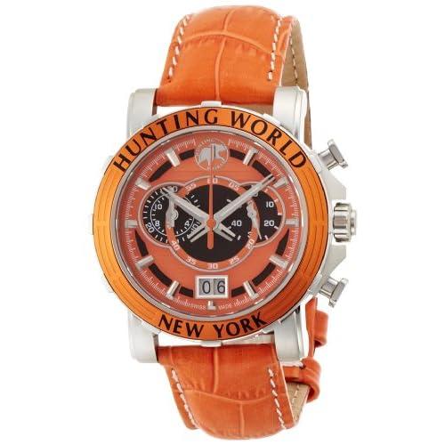 [ハンティングワールド]HUNTING WORLD 腕時計 イリス オレンジ オレンジ革 クオーツ HW913OR メンズ 【正規輸入品】
