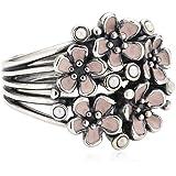 Pandora Damen-Ring 925 Sterling Silber Emaille rosa 190878EN40