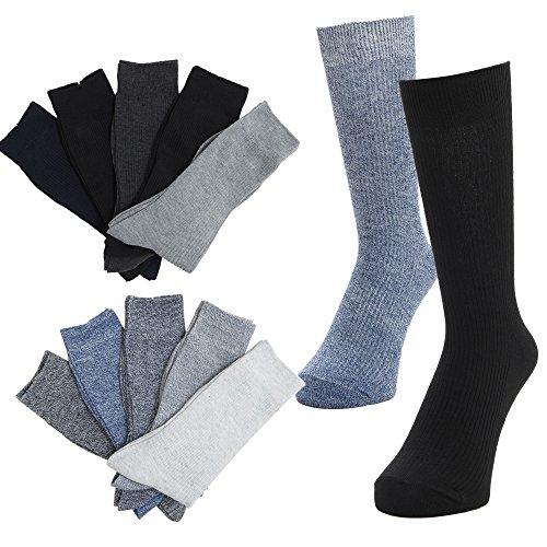 ソックス メンズ 靴下 抗菌 防臭  ビジネス カジュアル リブソックス 靴下 メンズ【10足セット】ダーク・杢