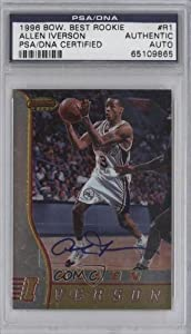 Allen Iverson PSA DNA Certified Auto AUTHENTICATED AUTHENTIC Chicago Bulls,... by Bowman