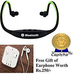 SAMSUNG Galaxy J5 Compatible Ceritfied Wireless Bluetooth Mobile Phone Sports Earphones with call functions (Assorted Color) with FREE GIFT