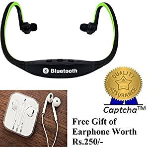 BlackBerry Z3 Compatible Ceritfied Wireless Bluetooth Mobile Phone Sports Earphones with call functions (Assorted Color) with FREE GIFT