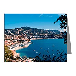 CafePress A charming coastal town of the French Riviera betw Note Cards Pk of 10 - Standard Multi-color Matte from CafePress