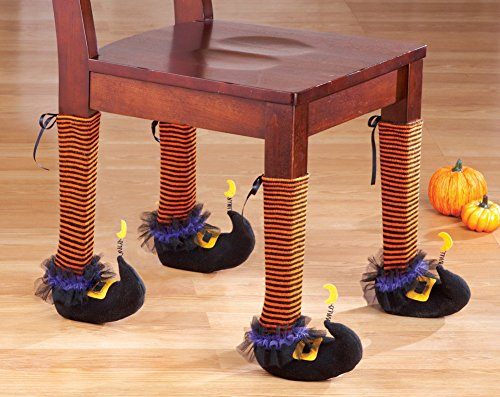 Witch Stocking Chair Leg Covers Halloween Party Decoration