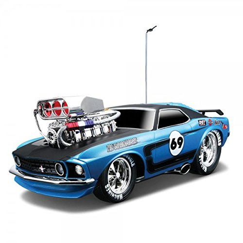 Maisto Muscle Machines – 1/18 Scale 1969 Ford Mustang Boss 302 – Blue & Black