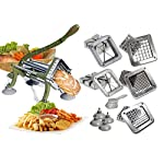 TigerChef commercial french fry cutter Heavy Duty Grade French Fry Cutter with Suction Feet Complete Set, Includes 1/4