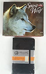 2 Item 2016 Calendar Bundle - 1- 2016 Spirit Of The Wolf Box Calendar and 1- Sm Black Piccadilly Essential Notebook