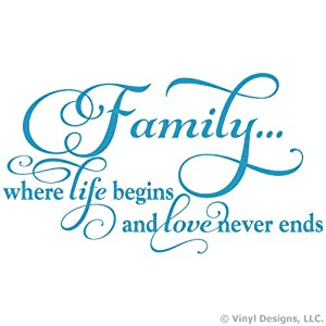 Amazon.com - Family Where Life Begins and Love Never Ends ...
