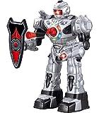 Robot teledirigido para niños - Robot Juguete Super Divertido - Baila, Lanza Dardos Suaves, Habla y Anda - RoboAttack