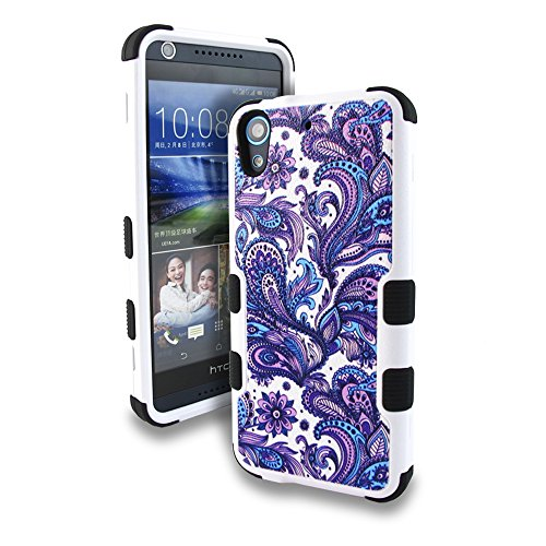 Click to buy HTC Desire 626 / 626s / 625 Case, Kaleidio [Natural TUFF] Rugged Dual Layer Hybrid Cover [Includes a Overbrawn Prying Tool] [Blue & Purple Paisley] - From only $45.66