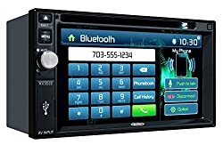 See Jensen VX3022 2 DIN Multimedia Receiver, 6.2-Inch Touch Screen with Bluetooth, and Built-in USB Port (Black) Details