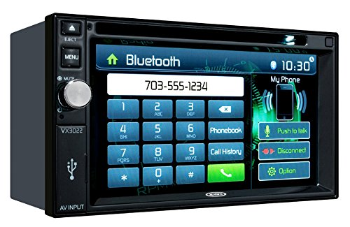 Jensen VX3022 2 DIN Multimedia Receiver, 6.2-Inch Touch Screen with Bluetooth, and Built-in USB Port (Black) (Ford Compass Module compare prices)