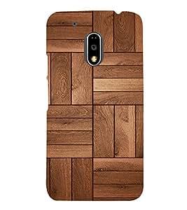 Beautiful Wood Design Cute Fashion 3D Hard Polycarbonate Designer Back Case Cover for Motorola Moto G4 Play