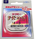 ゴーセン テクミーPEテーパー 力糸 13m×2本継 赤 0.8号~5号 GT-490R